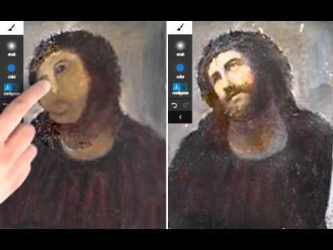 """Samsung Galaxy Note so špeciálnym perom je tablet pre profesionálov pracujúcich v oblasti grafického dizajnu, architektúry a umenia. Na jeho odpromovanie sme využili buzz okolo """"zreštaurovaného"""" diela v Španielsku a upozornili na to, že profesionáli, narozdiel od pani Cecilie, si volia tie správne nástroje."""