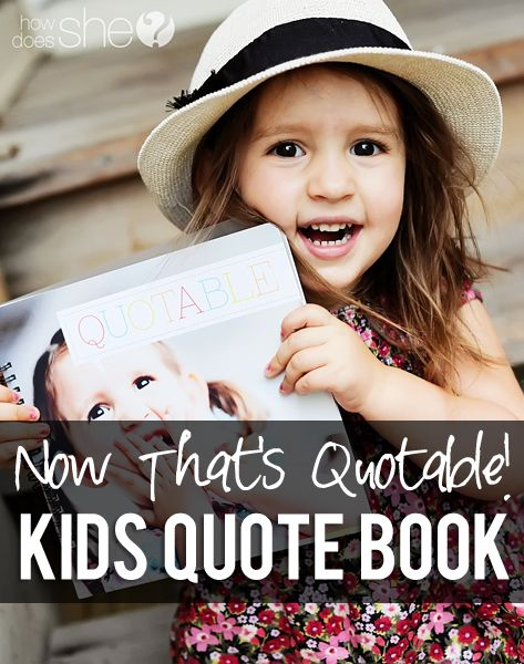 Kids Quote Book - Not only are they bright and so fun to write on, there are places where you add those priceless photos of your child to the book, too! Not only are their words beautiful memories for the future, but so are those little faces, smiles, and happy moments!
