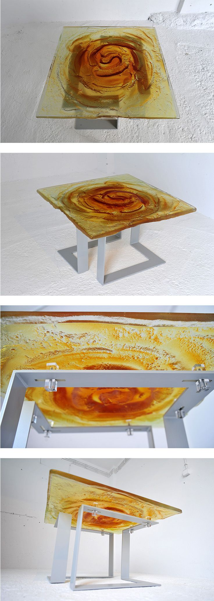 Archiglass Applied Arts Glass Table Stolik Szklany
