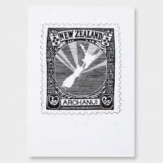 Arohanui NZ Screen Print by Hannah Jensen