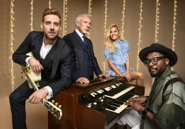 Ricky Wilson, Rita Ora, Sir Tom Jones, will.i.am on The Voice UK 2015............I wish we had BBC One in the states. I will have to wait until the best of performances come to YouTube. Drat!