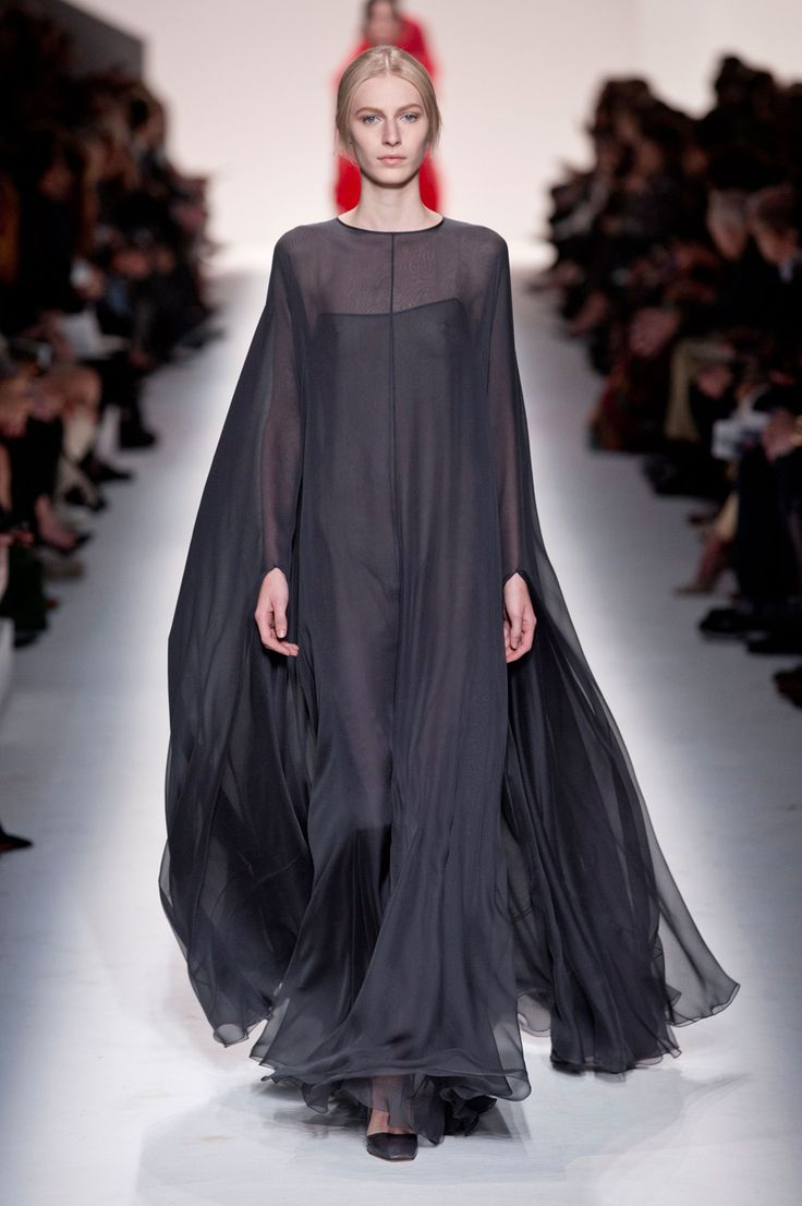 Valentino black dress voile