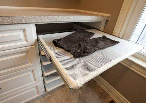 "Considering how many ""lay flat to dry"" sweaters I wear, I am so having drying racks in my future laundry room."