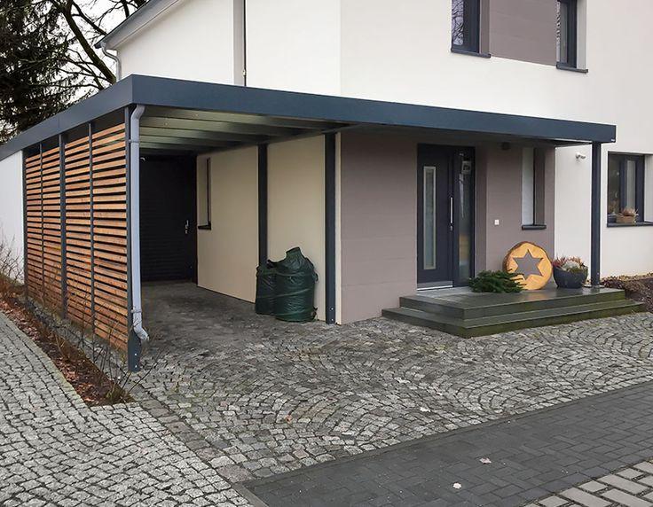 Eine Referenz aus Dresden. Carport mit seitlicher Weiterführung als Eingangsüberdachung / Vordach sowie zusätzlichem Geräteraumanbau hinter dem Carport.  Ein schönes Objekt, welches es in...
