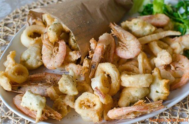 Frittura di calamari e gamberi
