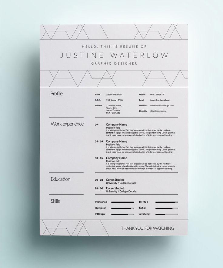 The Creative CV (A Little Opulent)