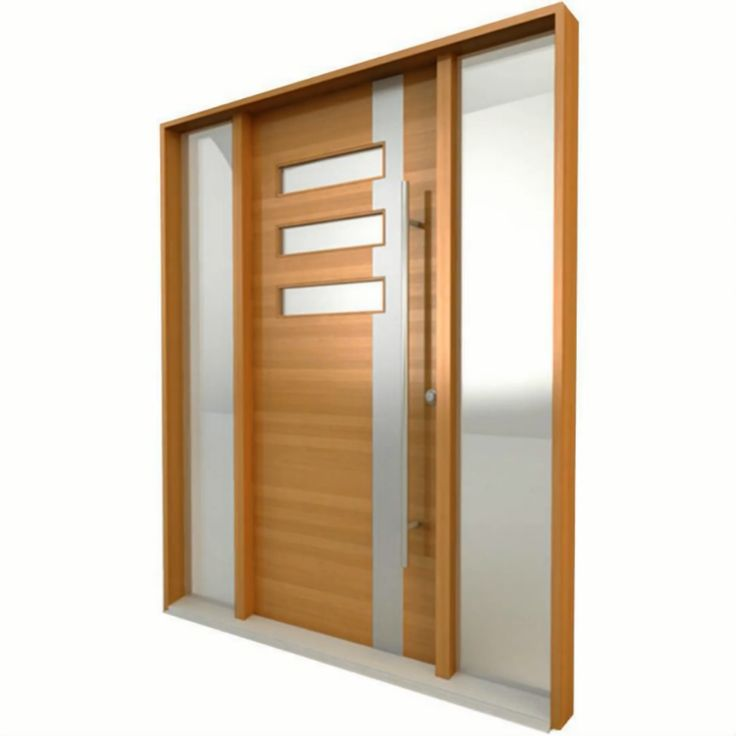 #ProductSpotlight! The combination of wood, stainless steel and glass turn a front door into a piece of art that invokes admiration. #entryways #moderncontemporary #elitewood #exteriordoors #customhomes