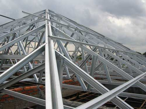 37 best images about cold formed metal framing on for Metal hip roof