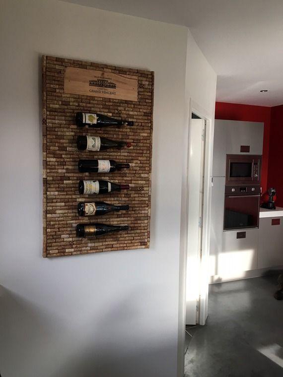 Support mural pour bouteilles de vin | Porte bouteille vin, Support bouteille, Rangement vin