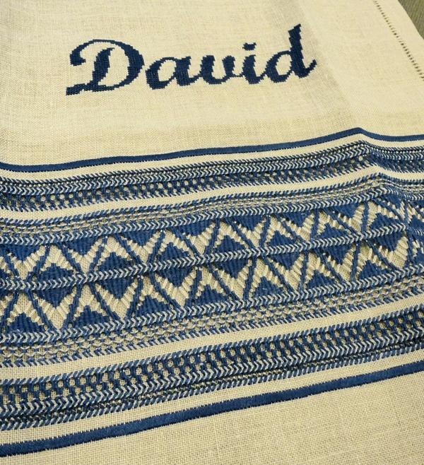 toallas vainicas para DavidBordado Calados