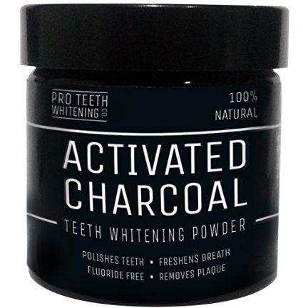 Poudre de blanchiment des dents au charbon actif ( activated charcoal teeth whitening ) naturel par Pro Teeth Whitening Co | Garantie satisfait ou remboursé à 100 % sans aucune question posée | Fabriqué au Royaume-Uni