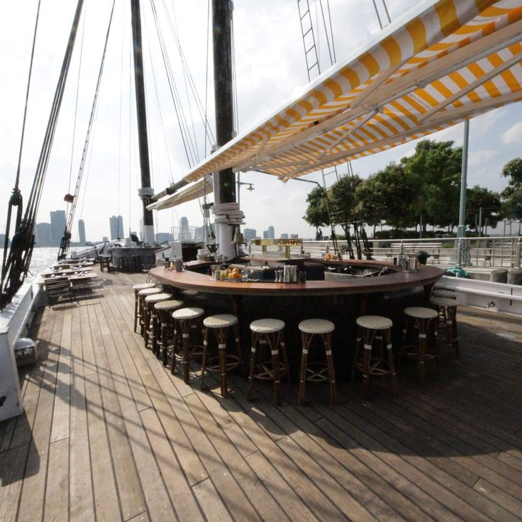 Grand Banks: Pier 25 in Tribeca; The oyster & cocktail boat is here