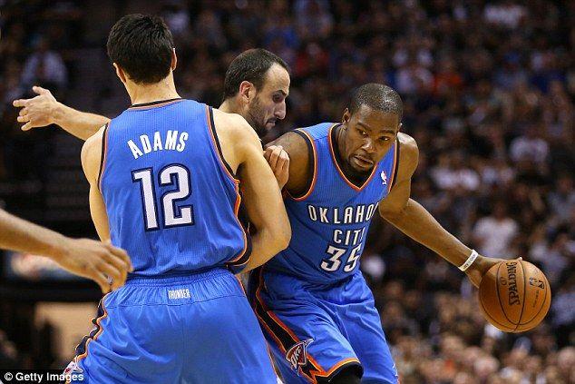 Superstar: Durant beat LeBron James to the NBA MVP award after a stunning season...