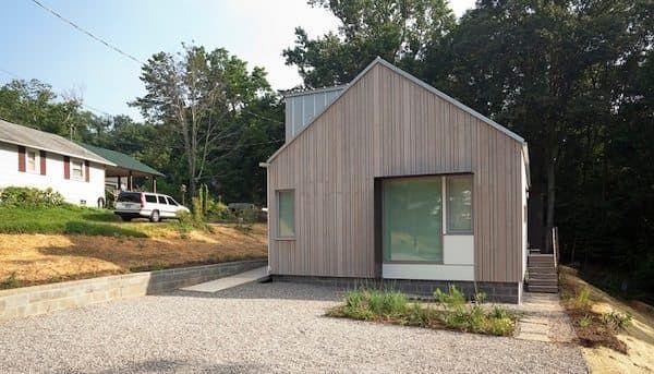 Proyecto de casa prefabricada de la Universidad de Tennessee (Nueva Casa Norris), un edificio que busca la certificación LEED Platino, con características sostenibles.