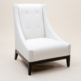 Scooped Button Backed Armchair