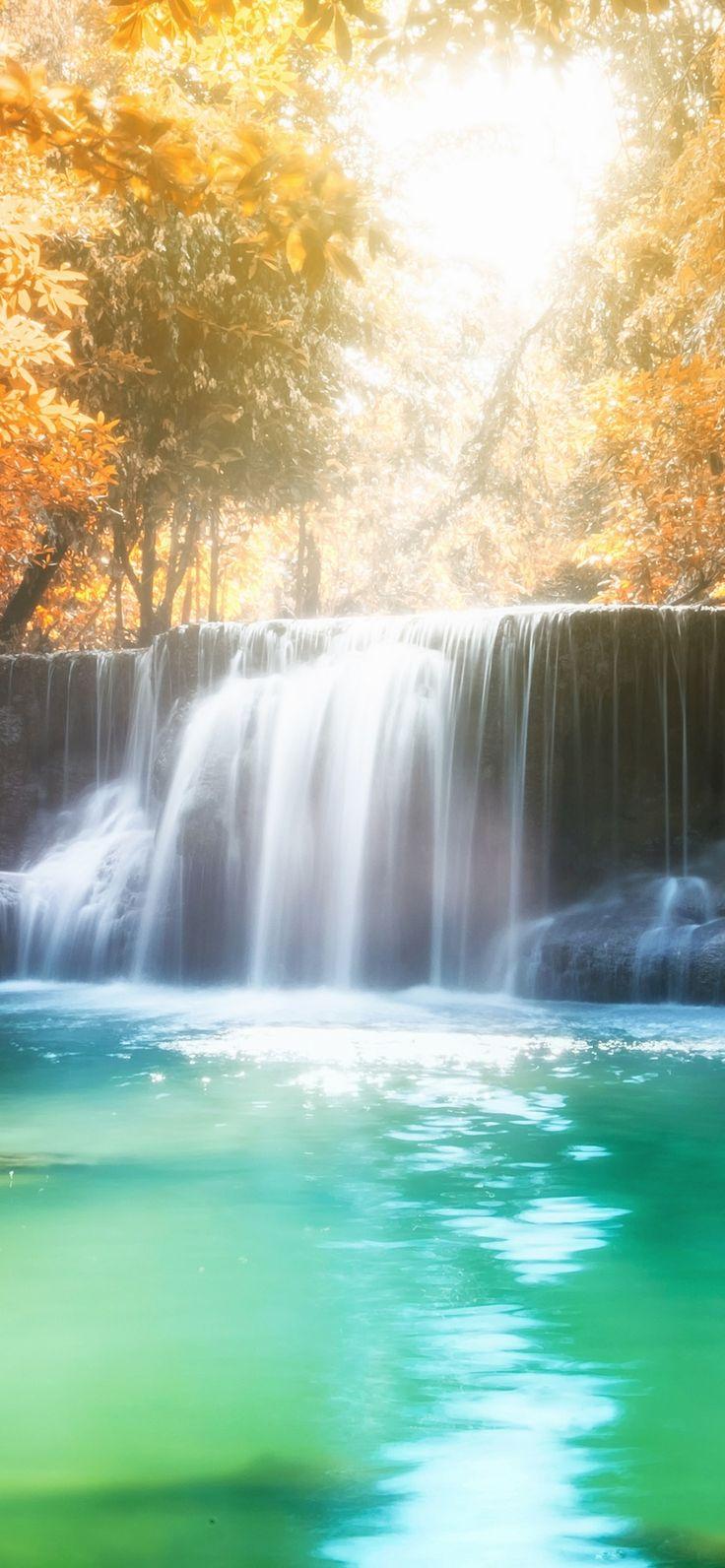 True Nature Green Waterfall Wallpaper iPhone Xr 7