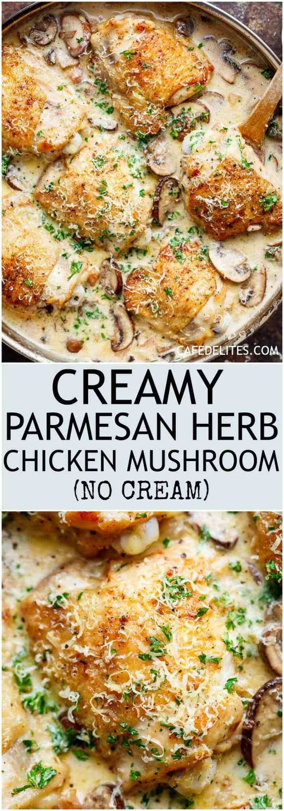 Chicken with herbs and parmesan mushrooms   – Kochen