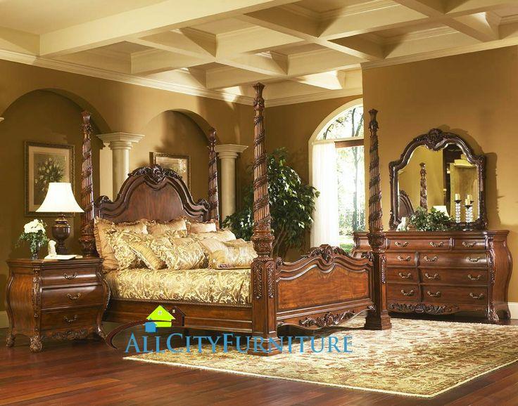 king charles bedroom furniture set collection with poster bed king poster bed bedroom furniture set