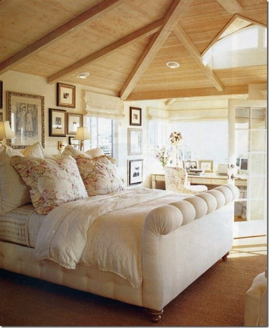 seaside cottage decor | Beach cottage bedroom | decorating