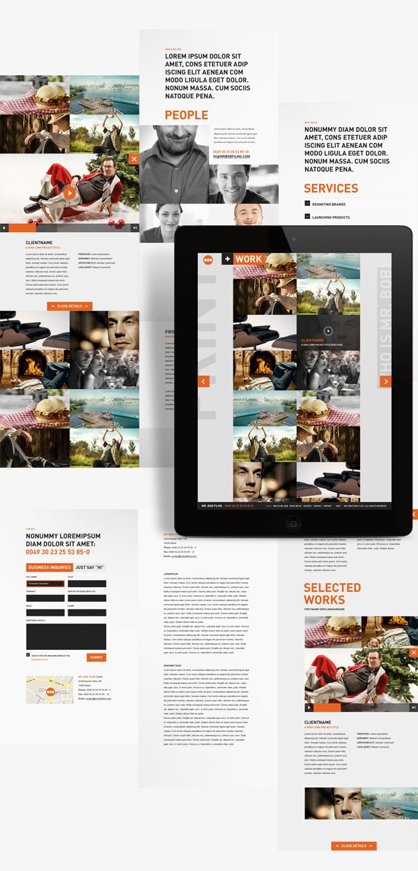 Interaction Design / Mr. Bob Films on the Behance Network