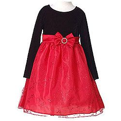 Red Christmas Dresses for Girls | Bonnie Jean Girls' Red Holiday Christmas Dress- Size 6 | Overstock.com