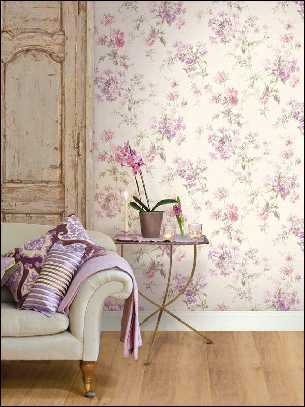 Por fin primavera!!! Decora las paredes de tu hogar con papel pintado de flores…