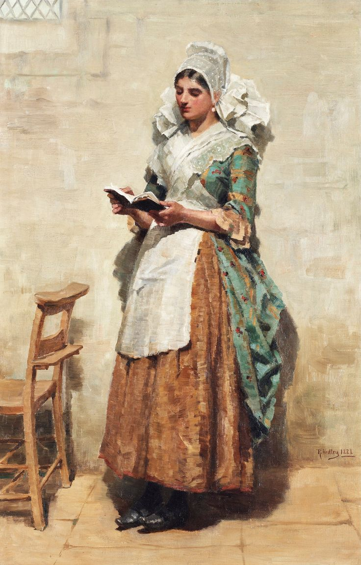20paintings fishing jpg chinese peasant paintings pinterest - Woman With Apron Reading By Ralph Hedley English