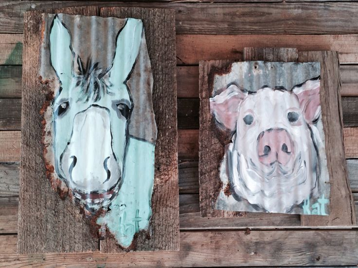 Paintings on barn wood by mizippihippi on Etsy, $55.00 ...