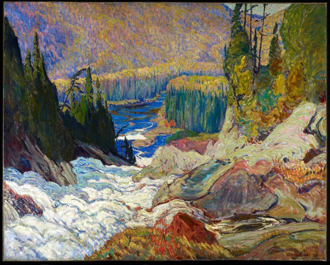 J. E. H. MacDonald | Falls, Montreal River (1920) | Oil on canvas, 121.9 x 153 cm | © Art Gallery of Ontario