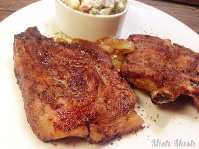 Mish-Mash: Пържоли с горчица и лук