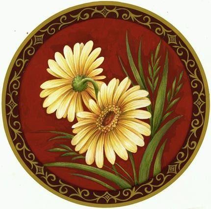 yellow flowers round i