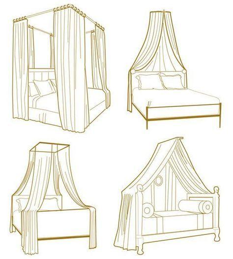 esquemas prácticos de decoración de interiores - camas con dosel
