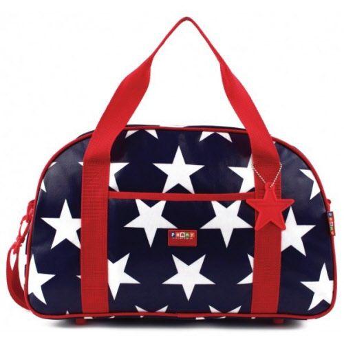 Penny Scallan Overnight Bag - Navy Star $60 27cm H x 45cm W x 18cm D