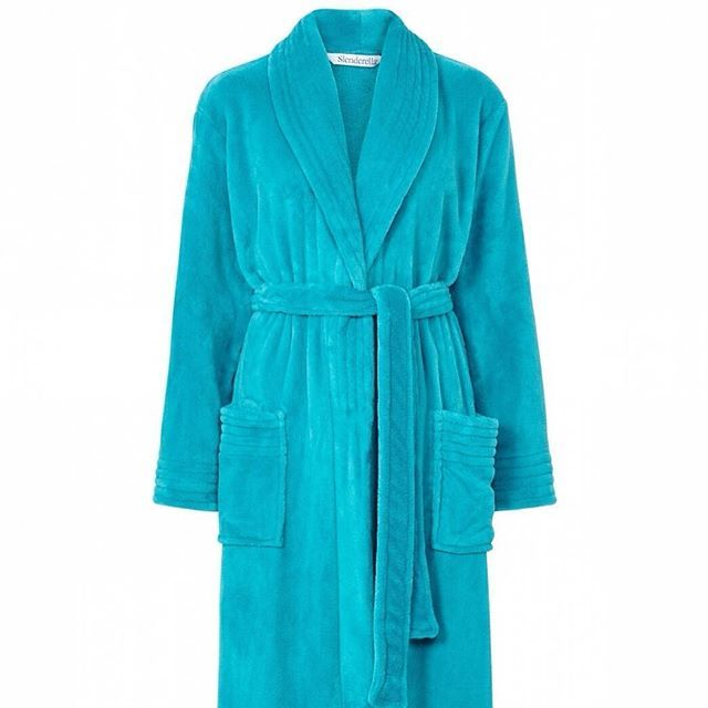 Coral Fleece Wrap Robe Stitch Detail to Collar, Cuffs & Pocket Every robe is folded with ribbon to make the ideal present at an affordable priceLength 46 £23.20 #nightwear #dressinggown #fleece #slenderella #winterdressinggown #warmnightwear