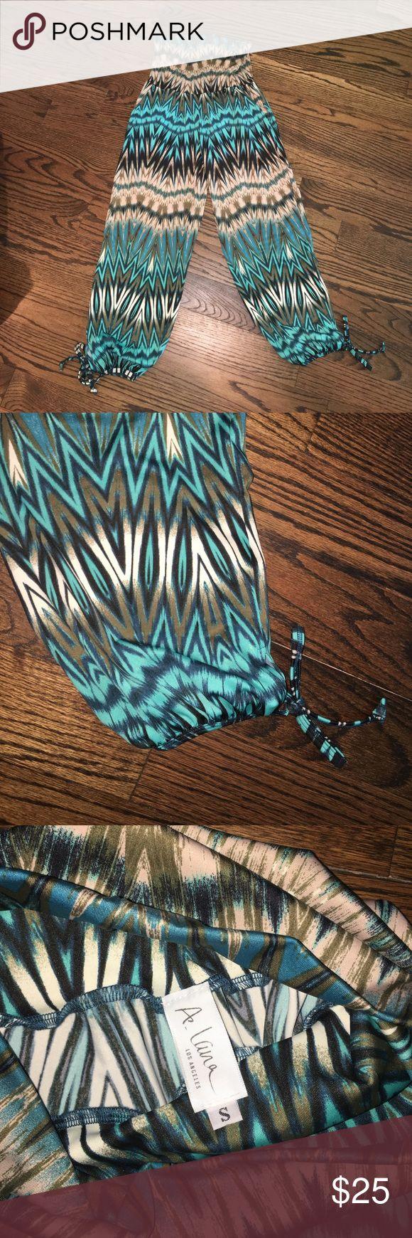 Turquoise tribal print pants - Never been worn A.Lana Pants Capris