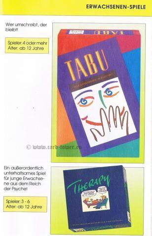 Tabu, Therapy