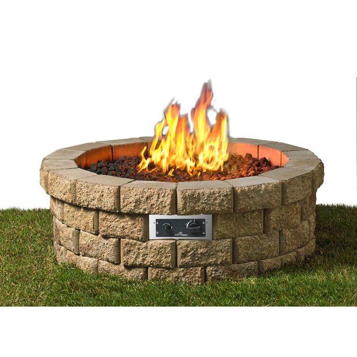 Elegant Outdoor GreatRoom Hudson Stone DIY Fire Pit Kit   HUD 46 K Awesome Design