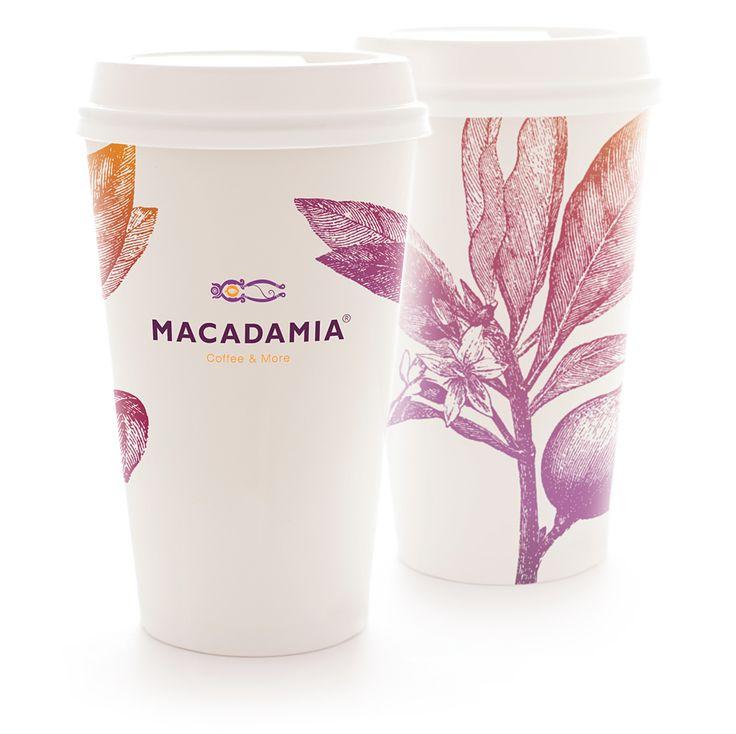 Macadamia Coffee&More: Товарный брендинг, Нейминг, Разработка логотипа, Брендбук, Дизайн упаковки и дизайн этикетки, Полиграфия