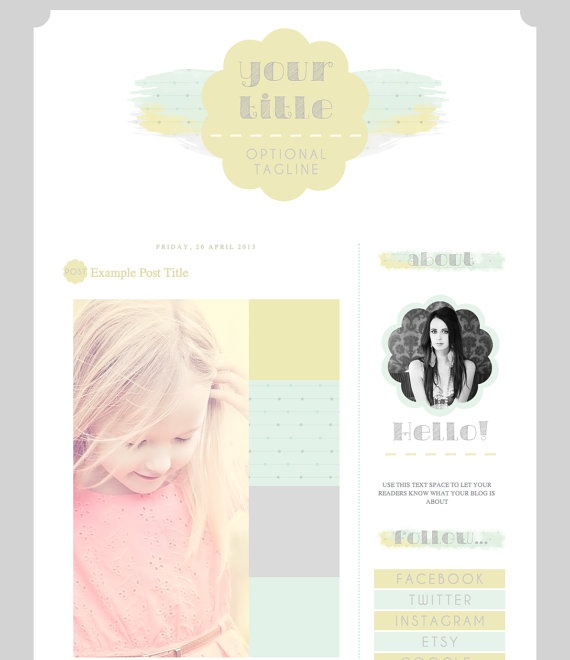 """Beach Side"" - a pretty reasonable price for a template so pretty!"