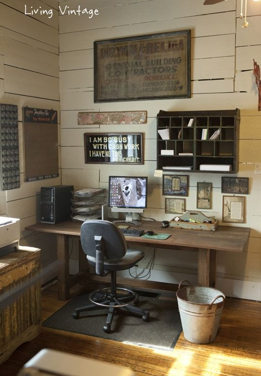 I love this industrial room!!!!