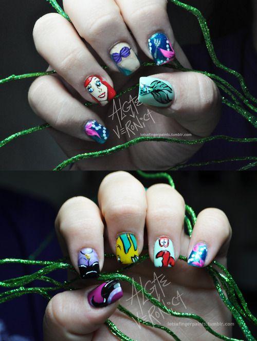 Cute little mermaid nail design