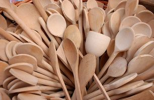 Wooden spoons are easy to season.                                                                                                                                                                                 More