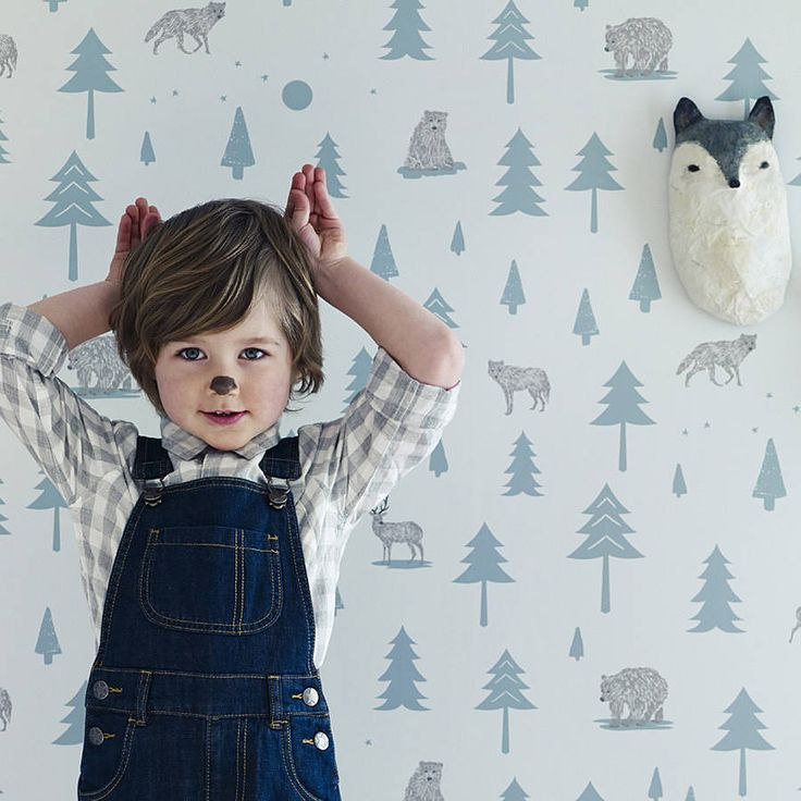 Into The Wild Nursery Wallpaper