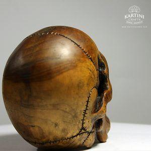 Karya Seni Patung Kayu Tengkorak Kartini Crafts