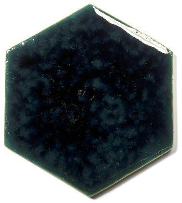 Blue Ceramic Handmade Wall & Floor Tile - Hexagon, glaze - Venus Grune