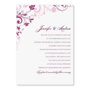 11 best wedding invitations images on Pinterest Wedding - microsoft word template invitation