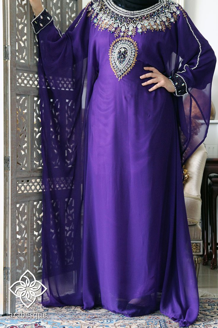 Purple Kaftan | Arabesque – Elegance By Design