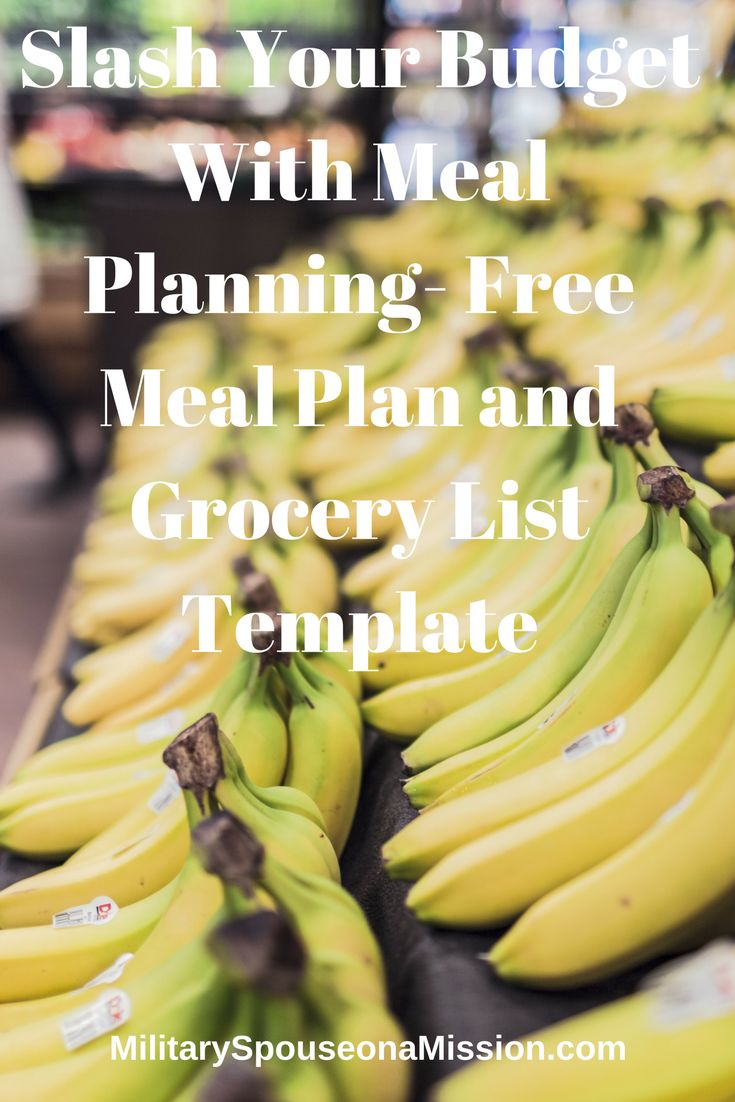 Slash Your Grocery Budget With Meal Planning