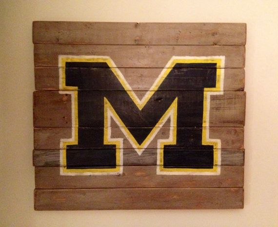 A great Block M for your wall, #DIY or buy! #Dormspiration