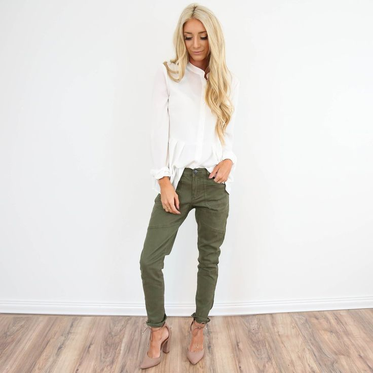 Love the boyfriend fit of these jeans! I usually wear size 0-1 in pants. Because it is a boyfriend fit, if you are in between sizes I would recommend sizing down. 97% Cotton, 3% Spandex machine wash c